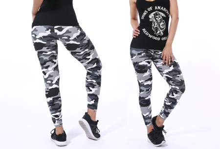 Camouflage legging | Trendy & comfortabele legging met legerprint in 7 uitvoeringen B