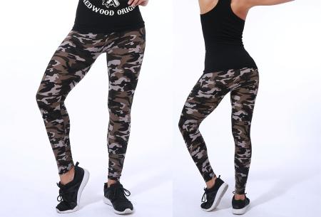 Camouflage legging | Trendy & comfortabele legging met legerprint in 7 uitvoeringen C