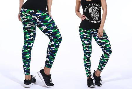 Camouflage legging | Trendy & comfortabele legging met legerprint in 7 uitvoeringen F