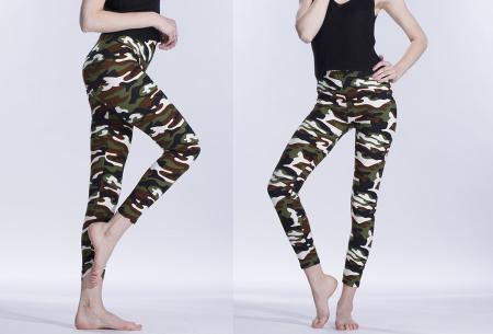 Camouflage legging | Trendy & comfortabele legging met legerprint in 7 uitvoeringen G