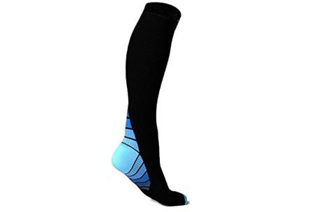 Compressiesokken | Helpt bij diverse beenklachten & verbetert de sportprestaties  blauw