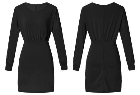 Getailleerde jurk | Heerlijk comfortabele jurk met vrouwelijke uitstraling zwart