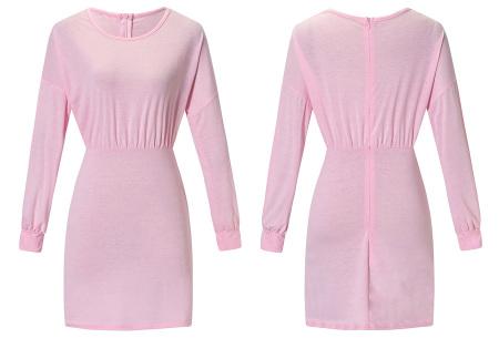 Getailleerde jurk | Heerlijk comfortabele jurk met vrouwelijke uitstraling roze
