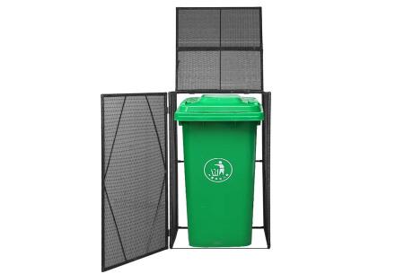 Rattan containerberging | Voor 1 of 2 kliko's Enkel zwart