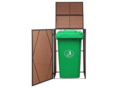 Rattan containerberging | Voor 1 of 2 kliko's Enkel bruin