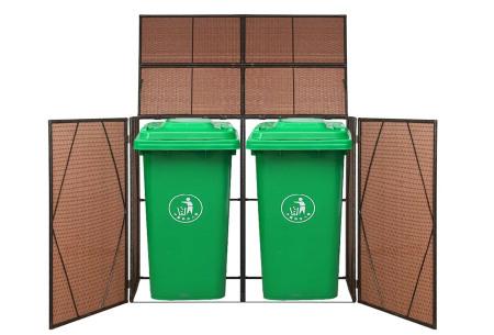 Rattan containerberging | Voor 1 of 2 kliko's Dubbel bruin