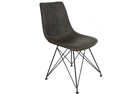 Jace stoelen | Industriële eetkamerstoel verkrijgbaar in 4 kleuren Antraciet
