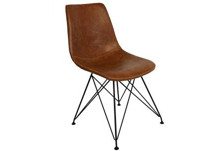 Jace stoelen | Industriële eetkamerstoel verkrijgbaar in 4 kleuren Cognac