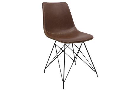 Jace stoelen | Industriële eetkamerstoel verkrijgbaar in 4 kleuren Bruin