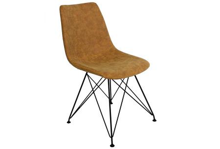 Jace stoelen | Industriële eetkamerstoel verkrijgbaar in 4 kleuren Zand