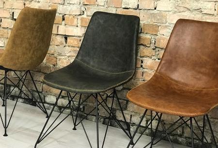 Jace stoelen | Industriële eetkamerstoel verkrijgbaar in 4 kleuren
