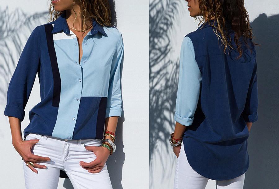 Multicolor blouse - Maat M - #1