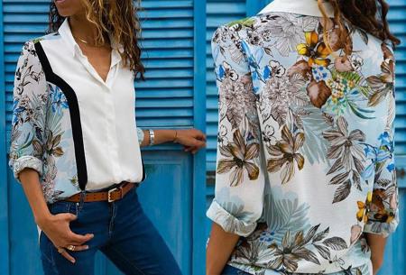 Multicolor blouse | Stijlvolle blouse verkrijgbaar in 11 prints #3