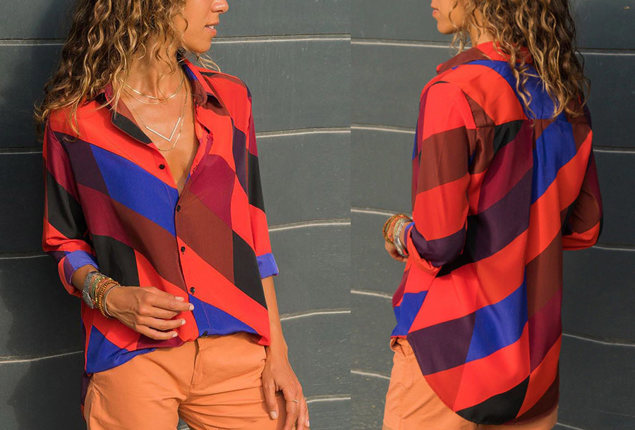 Multicolor blouse - Maat S - #5