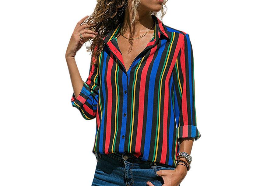 Multicolor blouse - Maat M - #10