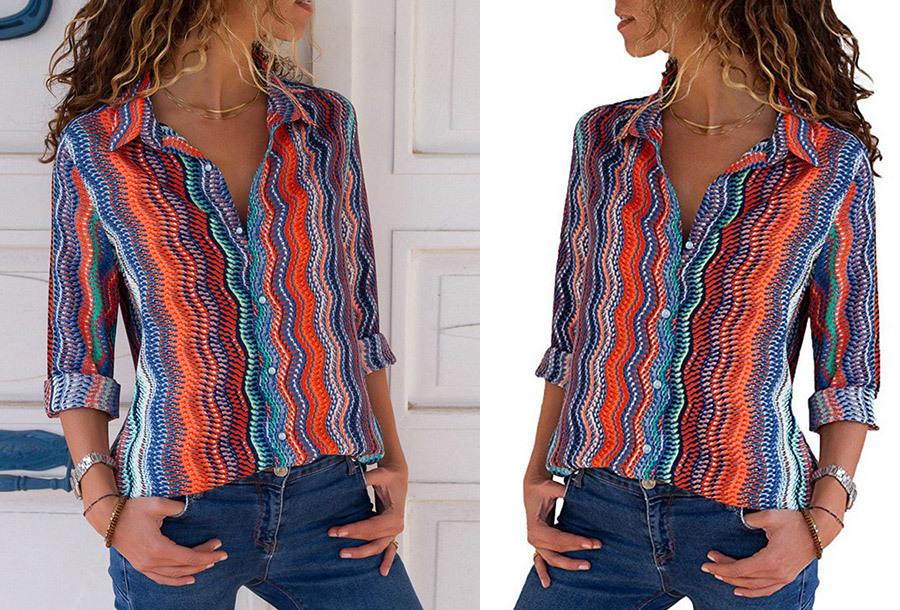Multicolor blouse - Maat L - #11