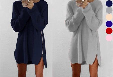 Knitted zipper trui nu heel voordelig te bestellen