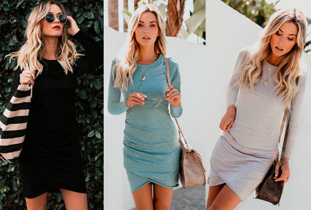 Longsleeve t-shirt dress - nu in de aanbieding