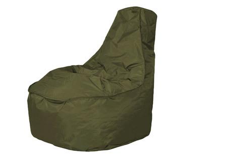 Drop & Sit NOA zitzak stoel | Keuze uit 2 formaten en 24 kleuren olijfgroen
