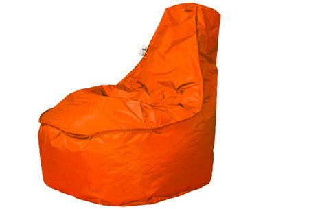 Drop & Sit NOA zitzak stoel | Keuze uit 2 formaten en 24 kleuren oranje