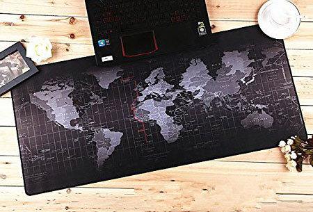 Wereldkaart muismat XL | Geef jouw bureau een wereldse uitstraling! Keuze uit 5 uitvoeringen A