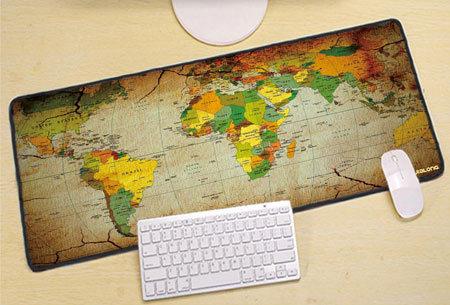 Wereldkaart muismat XL | Geef jouw bureau een wereldse uitstraling! Keuze uit 5 uitvoeringen B