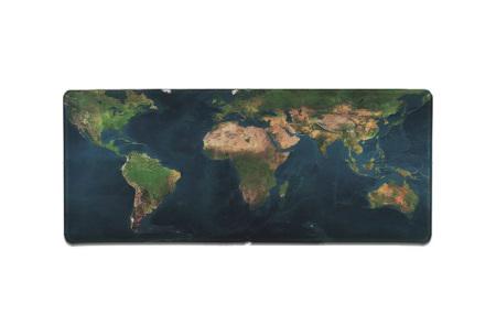 Wereldkaart muismat XL | Geef jouw bureau een wereldse uitstraling! Keuze uit 5 uitvoeringen C
