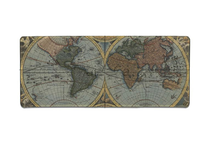 Wereldkaart muismat XL D - 90 x 30 cm