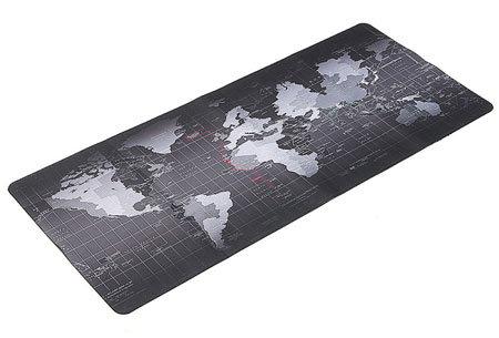 Wereldkaart muismat XL | Geef jouw bureau een wereldse uitstraling! Keuze uit 5 uitvoeringen