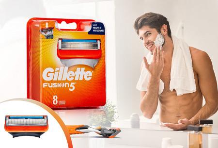 Gillette Fusion 8-pack scheermesjes | Voor een ultiem glad scheerresultaat