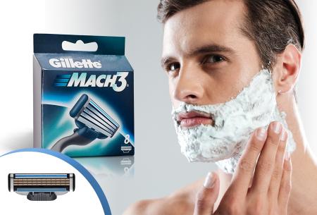8-pack Gillette Mach3 scheermesjes | Scheer gladder dan ooit tevoren!