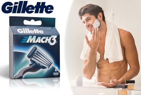Gillette Mach3 scheermesjes 8-pack in de aanbieding