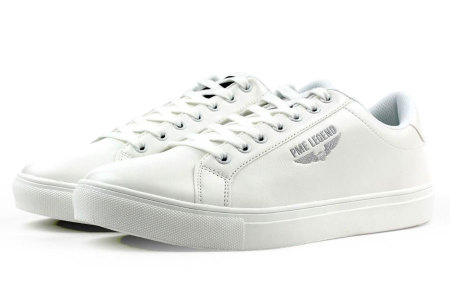 PME Legend schoenen | Leuke & comfortabele heren sneaker Falcon - wit