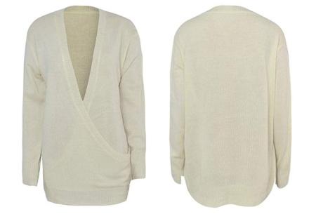 V-neck sweater | Ultra zachte & comfortabele trui met een verleidelijke look crème