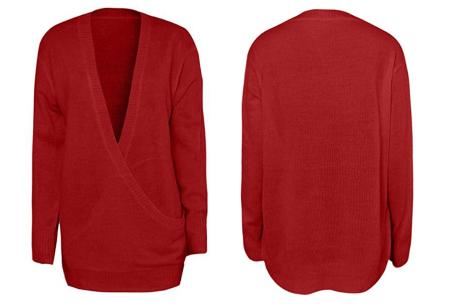 V-neck sweater | Ultra zachte & comfortabele trui met een verleidelijke look rood