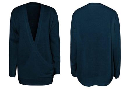 V-neck sweater | Ultra zachte & comfortabele trui met een verleidelijke look blauw