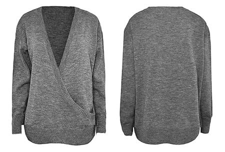 V-neck sweater | Ultra zachte & comfortabele trui met een verleidelijke look grijs