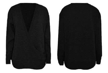 V-neck sweater | Ultra zachte & comfortabele trui met een verleidelijke look zwart