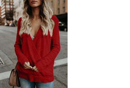 V-neck sweater | Ultra zachte & comfortabele trui met een verleidelijke look