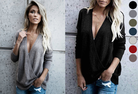 V-neck sweater nu in de sale met hoge korting