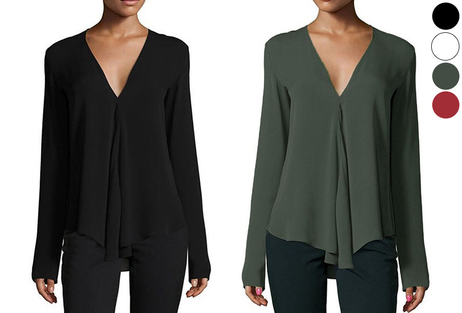 Classy v-neck blouse nu met korting <br/>EUR 9.99 <br/> <a href='https://tc.tradetracker.net/?c=24550&m=1018105&a=230468&u=https%3A%2F%2Fwww.vouchervandaag.nl%2Fclassy-v-neck-blouse' target='_blank'>bekijk product</a>