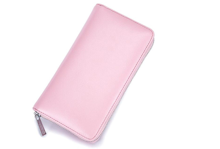 Multifunctionele portemonnee | Ruimte voor 36 pasjes, je smartphone & paspoort lichtroze