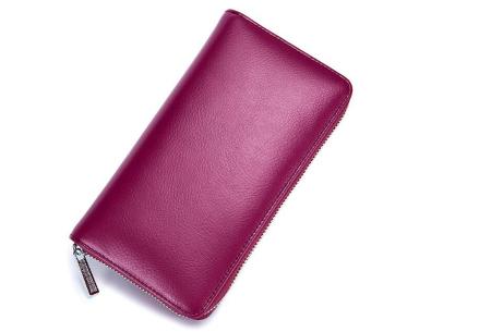 Multifunctionele portemonnee | Ruimte voor 36 pasjes, je smartphone & paspoort paars