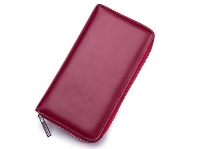 Multifunctionele portemonnee | Ruimte voor 36 pasjes, je smartphone & paspoort wijnrood