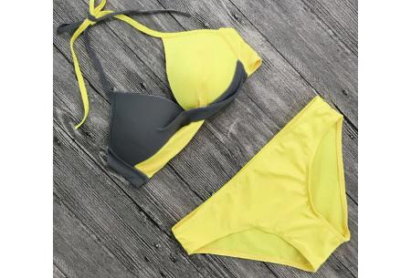 Two-colored bikini | Dé musthave bikini voor deze zomer Geel/grijs
