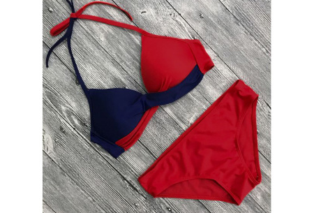 Two-colored bikini | Dé musthave bikini voor deze zomer Rood/blauw