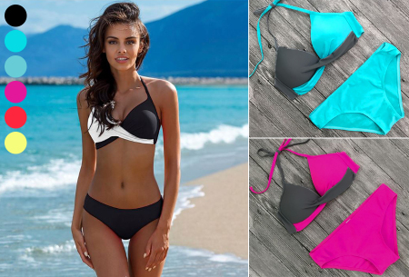 Two-colored bikini in de aanbieding met korting