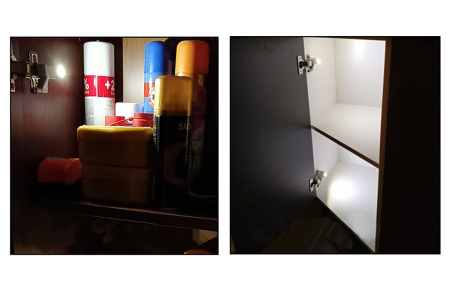 Automatische LED kastverlichting | Scharnierverlichting met druksensor nu 1+1 Gratis