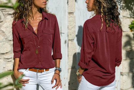 Casual dames blouse | Nu verkrijgbaar in maar liefst 9 kleuren Wijnrood