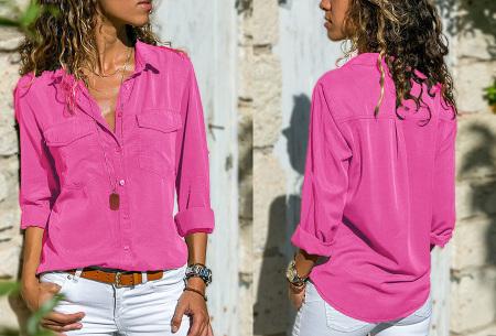 Casual dames blouse | Nu verkrijgbaar in maar liefst 9 kleuren Roze